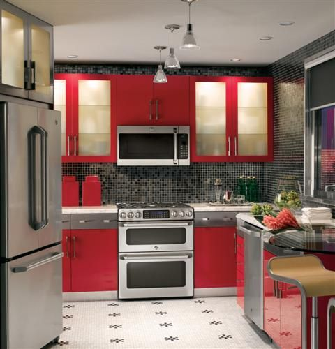 This Double Oven Stove Top With Microwave Too Cool Kitchen Appliances Kitchen Appliances Design Modern Kitchen Appliances