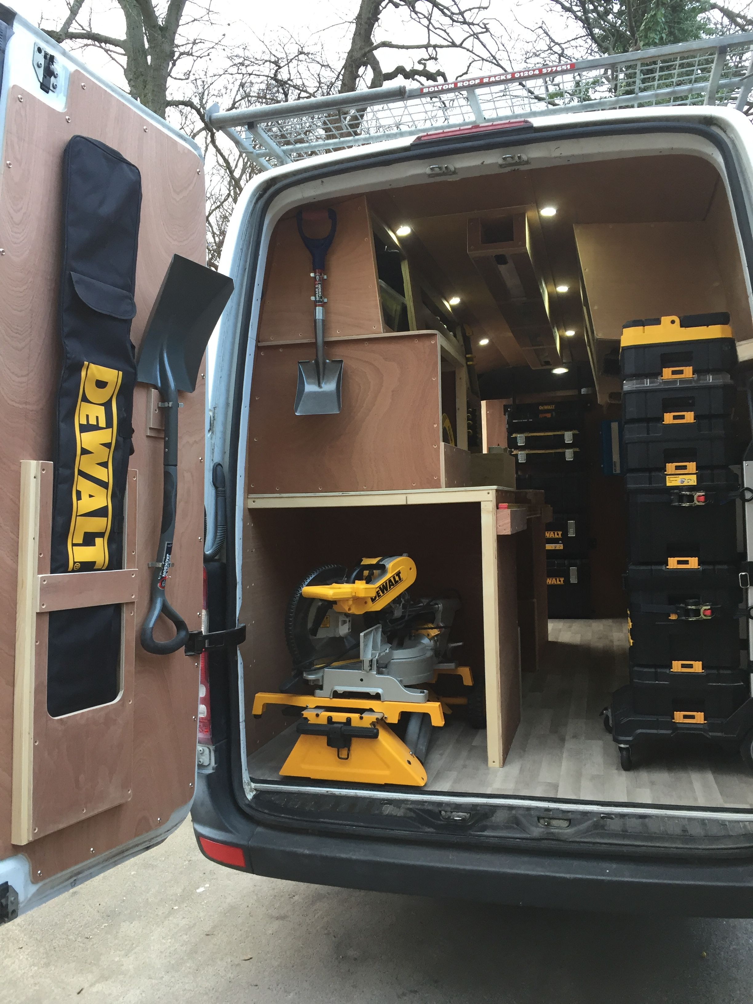 Pin By Sidney Morris On Dewalt Tools Van Racking Van