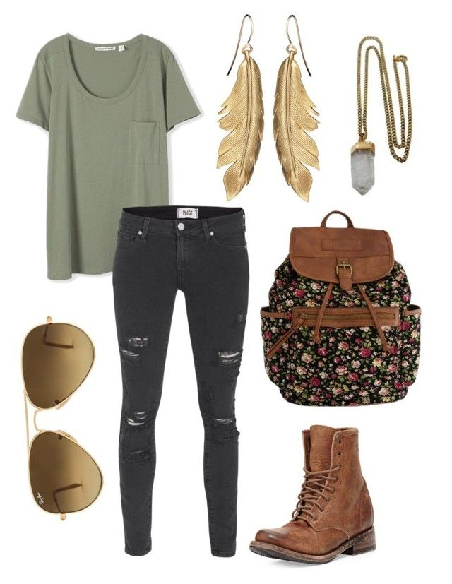 hxuxuxucu by annagoetzke on Polyvore featuring polyvore fashion style Paige Denim Freebird Lacey Ryan Ray-Ban women's clothing women's fashion women female woman misses juniors