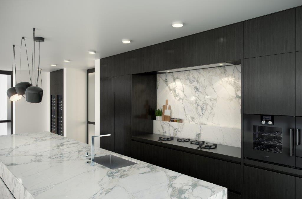 Keuken met statuario marmer toonbeeld van elegantie keukens