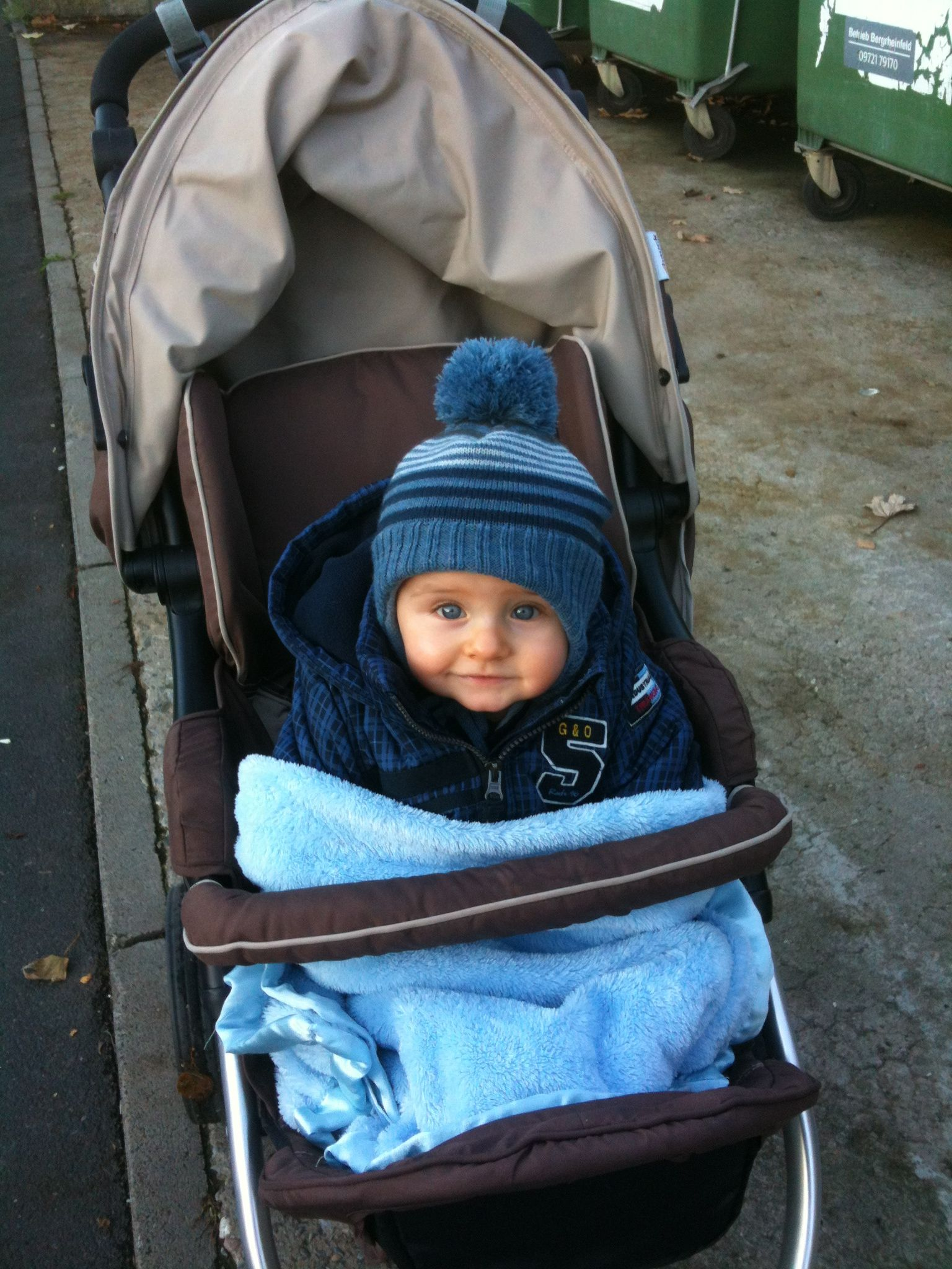 Little Max out for an evening Autumn walk in Germany.