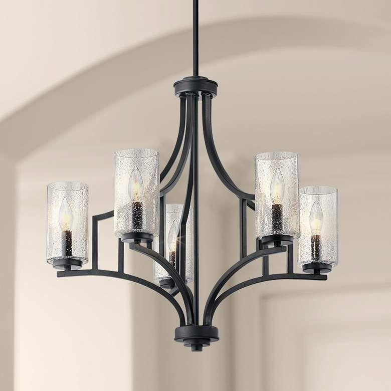 Kichler Vara 25 1 4 W Distressed Black 5 Light Chandelier 42d60 Lamps Plus 5 Light Chandelier Chandelier Lighting Chandelier