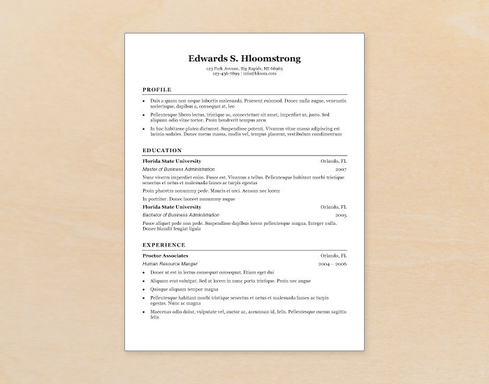 Free Resume Templates  Template Job Seek And Job Info