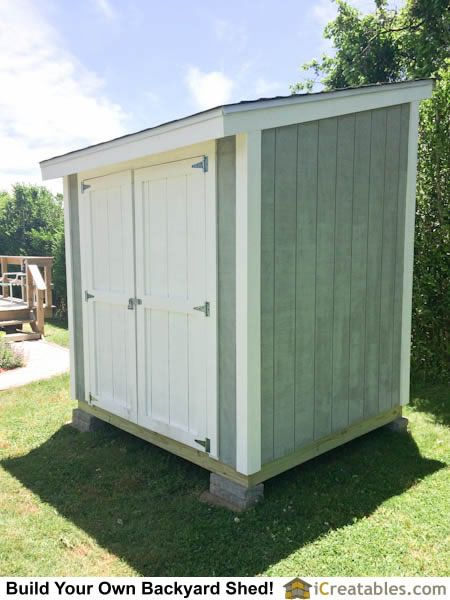 Lean To Shed Building Completed 6x10 Shed Plans In 2019