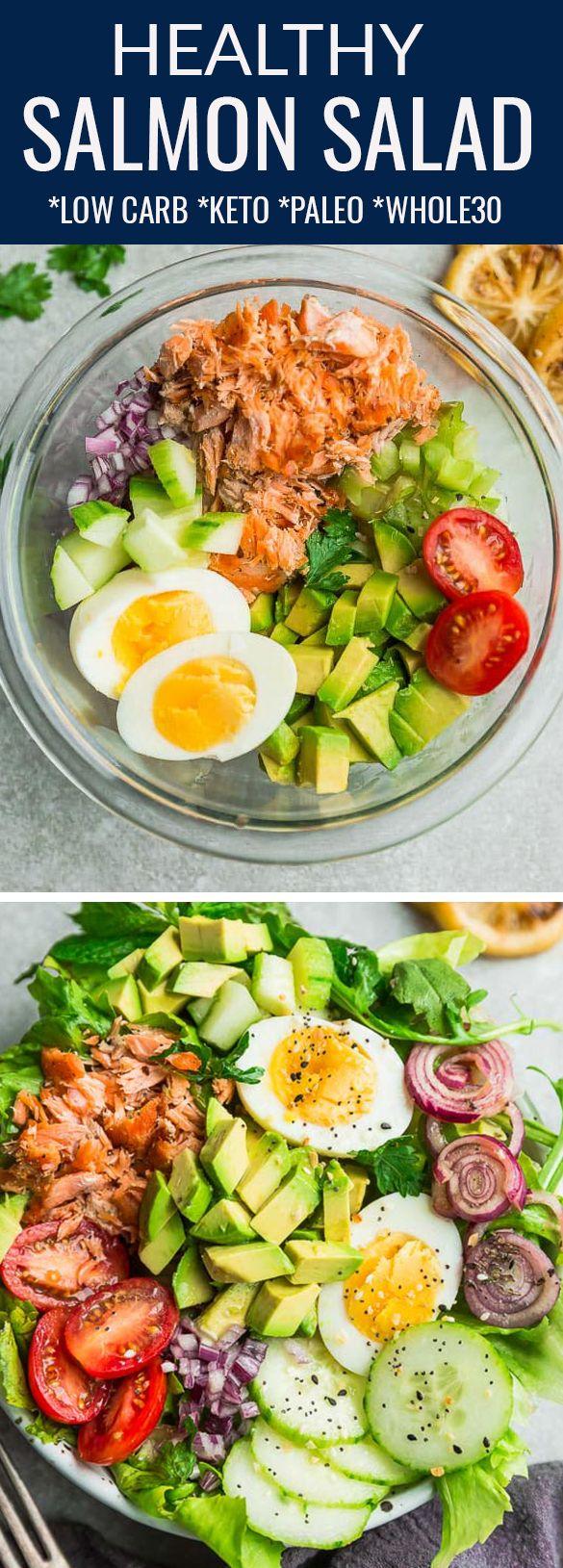 Healthy Salmon Salad – Carey&CleanEatingS