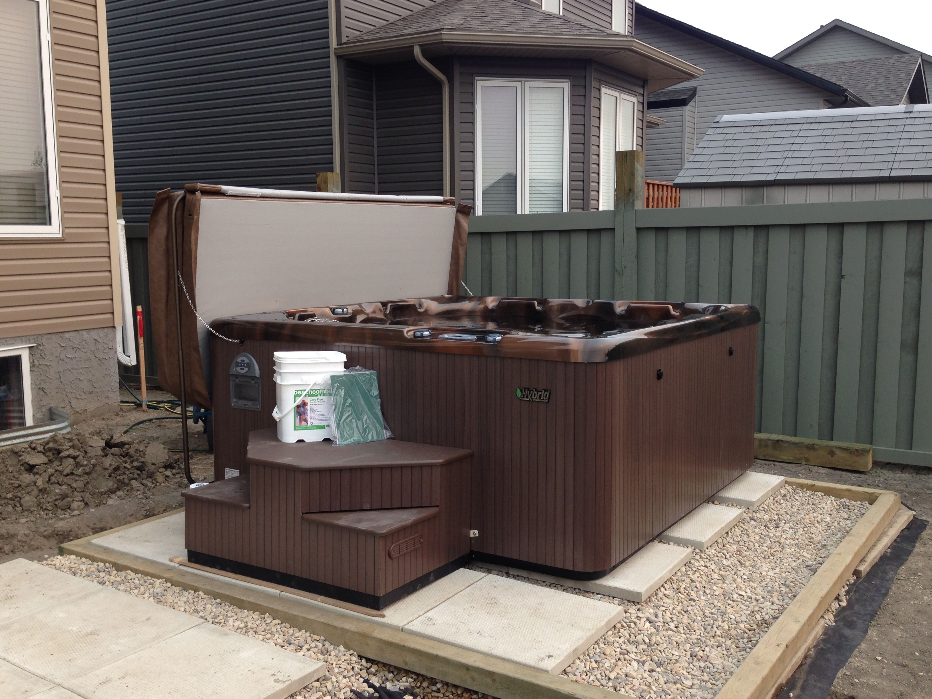 beachcomber model 580 install hot tub patio whistler spas backyard ideas pools [ 3264 x 2448 Pixel ]