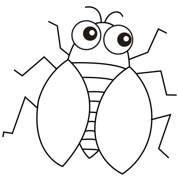 Cicada Coloring Pages Preschool And Kindergarten Coloring