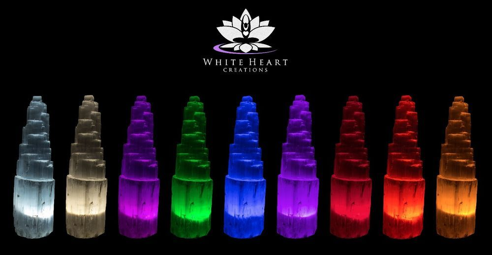9 Faceted Led Bulb Set For Your Selenite Crystal Lamp Rainbow Color Therapy Crystal Lamp Led Bulb Selenite