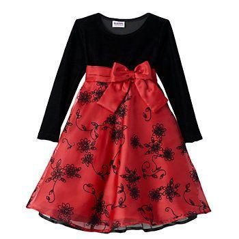 4b942776e2ae3 Blueberi Boulevard Girls 4-6x Floral Velvet Dress | Girls dresses