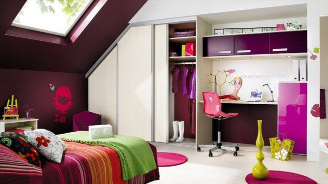 1000 images about chambre dado on pinterest teenagers design and merlin 2 - Chambre Ado Fille Moderne Violet