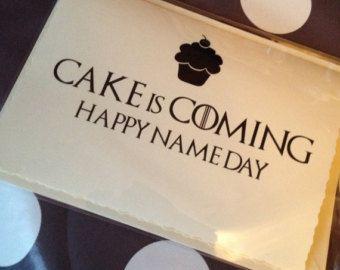 Game Of Thrones Birthday Party Ideas Office Buscar Con Google Cricut Birthday Cards Cricut Birthday Game Of Thrones Birthday