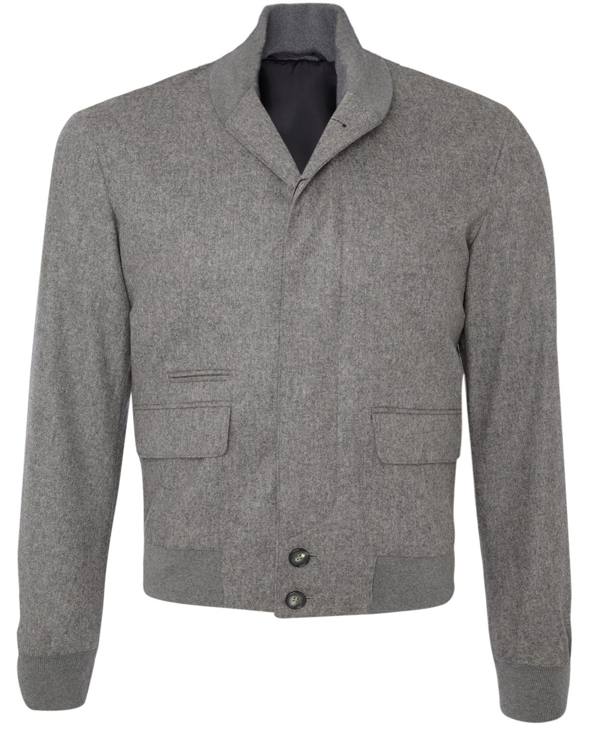 Grey flannel jacket  Alexander McQueen Grey Flannel Bomber Jacket  Menus jackets by