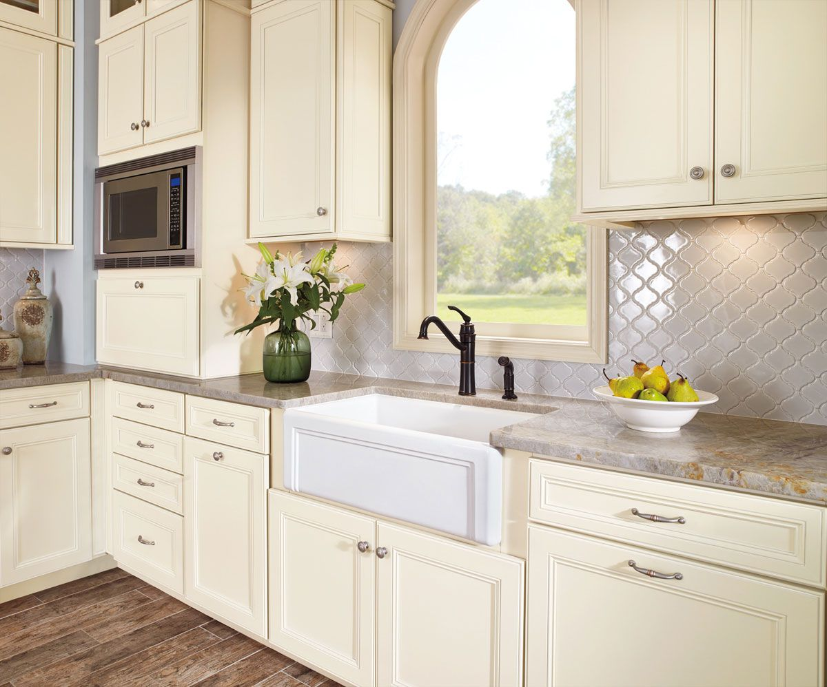 Waypoint Living Spaces Style 750 In Maple Cream Glaze Kitchen In