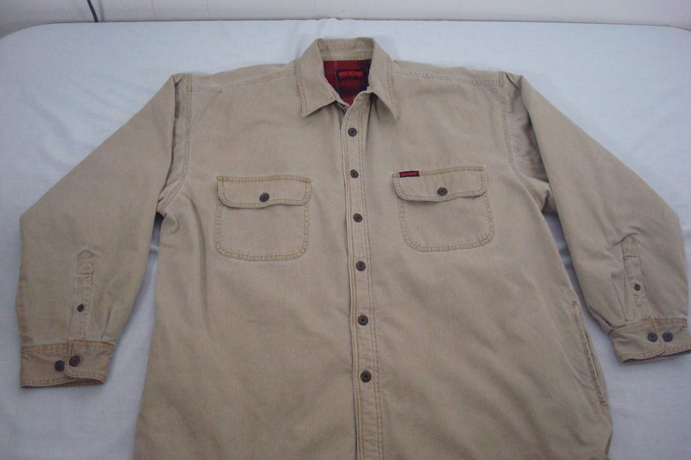 5732b4730de Wolverine Boots And Gear Mens Corduroy Jacket Shirt Size XL Lined ...