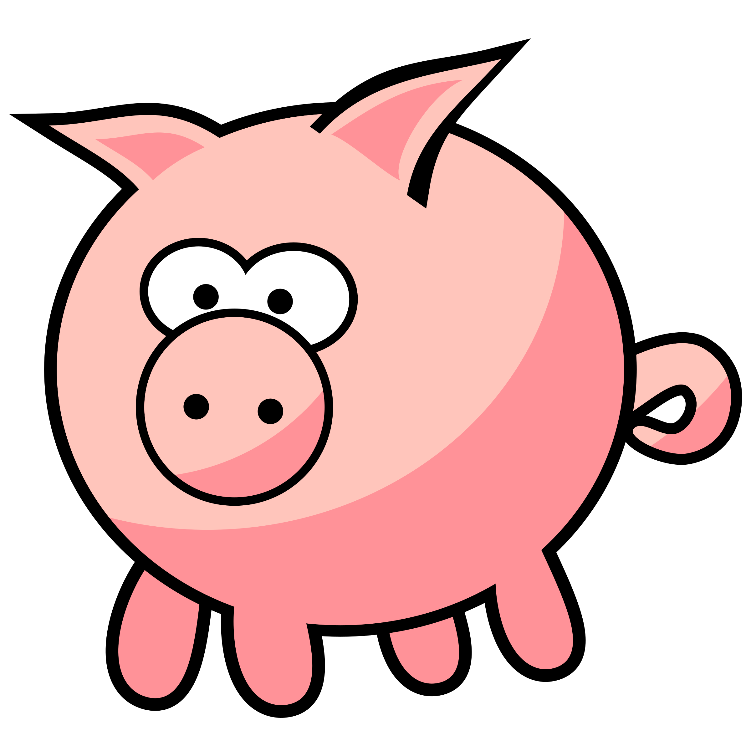 cartoon pig by qubodup cute pig i hope on openclipart