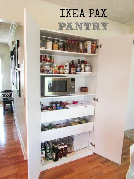 My Pantry Ikea Hack Kitchen Ikea Pantry Ikea Pax Wardrobe