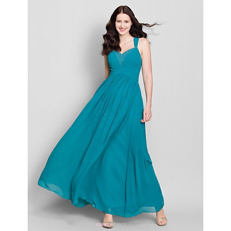 Ankle Length Dark Teal Bridesmaid Dresses