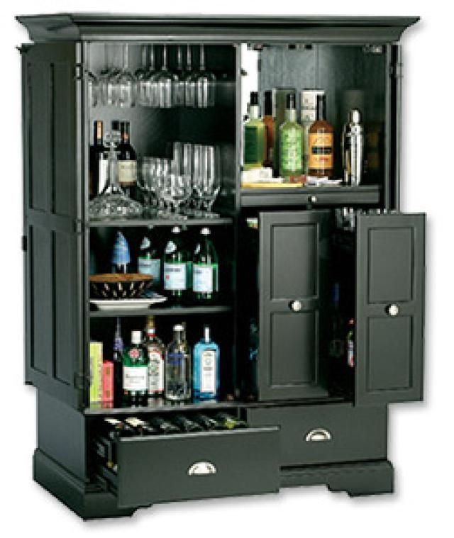 10 Awesome Portable (or Hidden) Home Bars: Howard Miller Hide A Bar