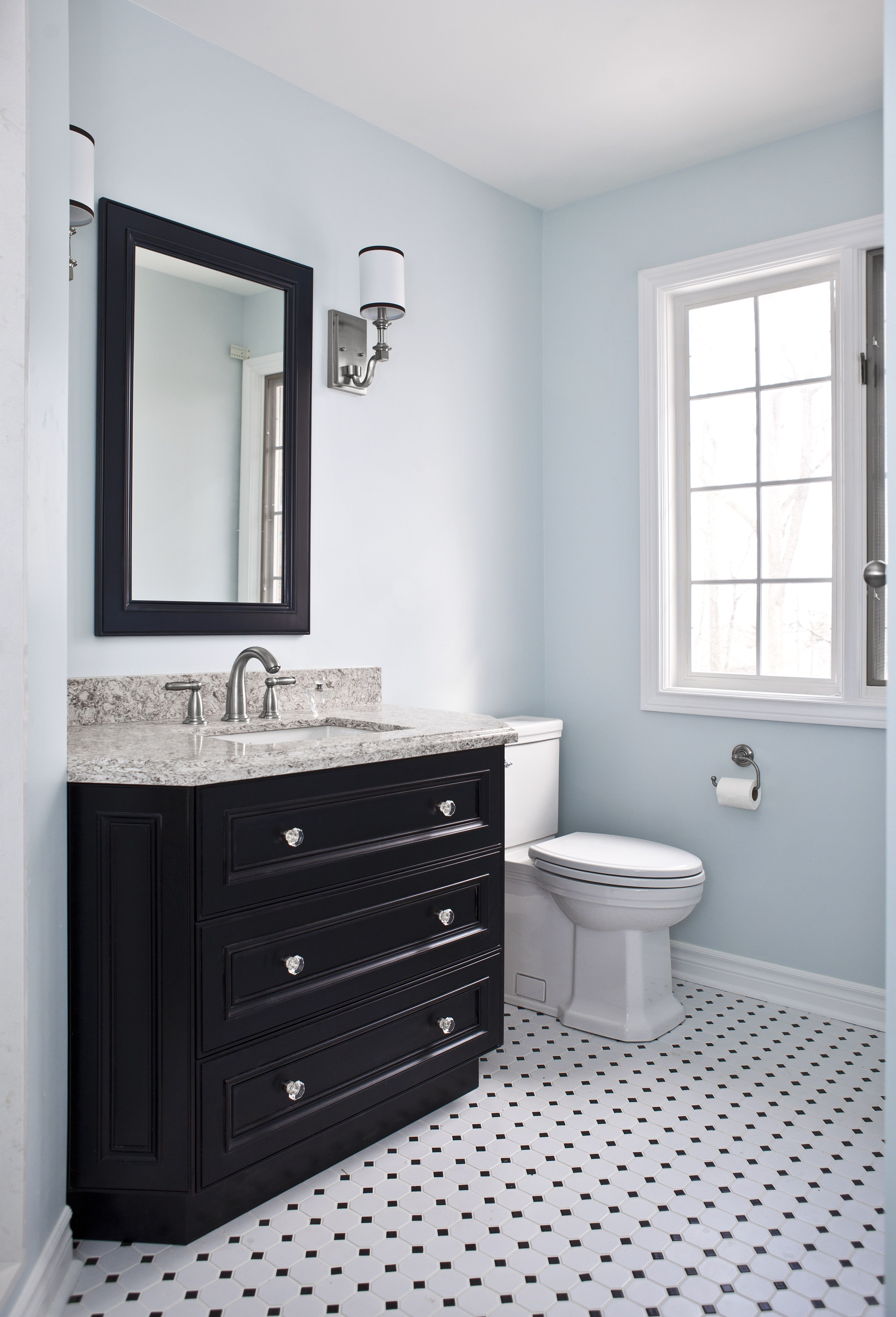 Transitional Bathroom Renovation Located In Burlington Ontario - A1 bathroom renovations