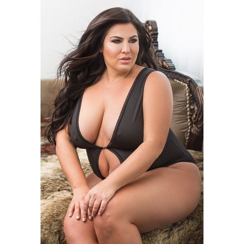 Sexy Beautiful Full Figured Young Adult Stock Photo