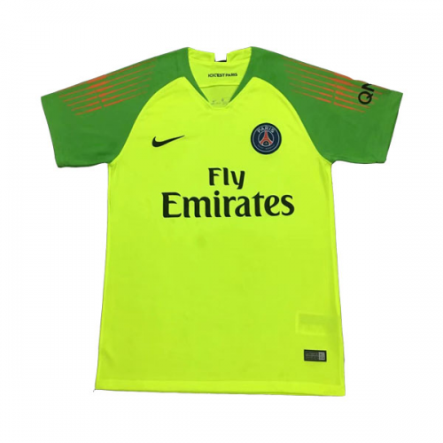 48d290d81dad 18-19 PSG Goalkeeper Green Soccer Jersey Shirt