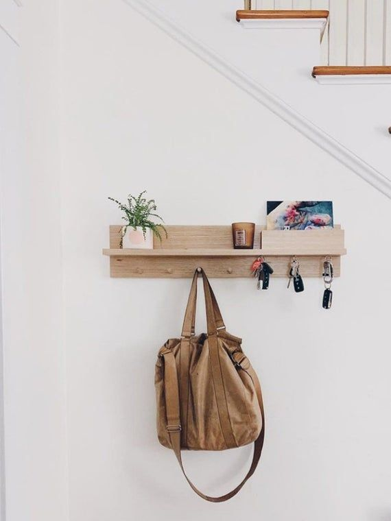 Entryway Organizer All In One 80cm Entryway Wall Organizer Etsy In 2020 Entryway Organization Entryway Organizer Wall Wall Mounted Coat Rack