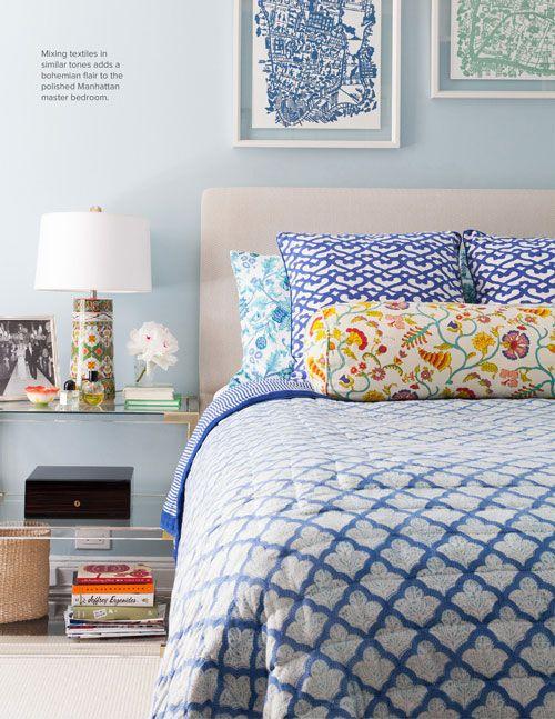 The perfect bedroom via Halycon Style. #laylagrayce #bedroom #diamondpattern