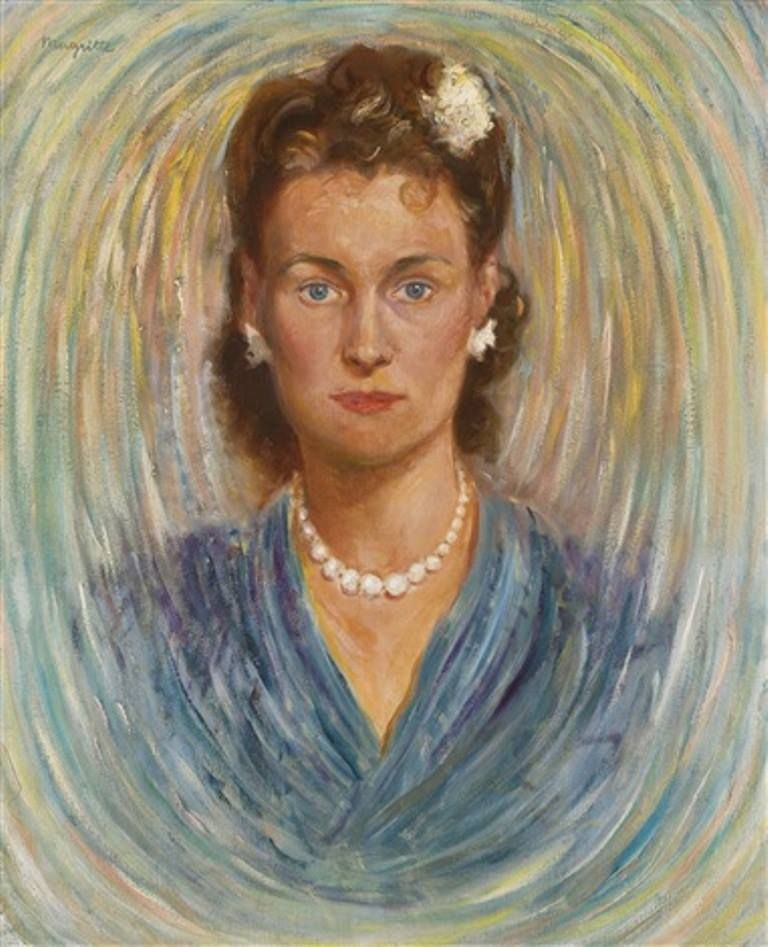 Rene Magritte「Portrait de Georgette Magritte」