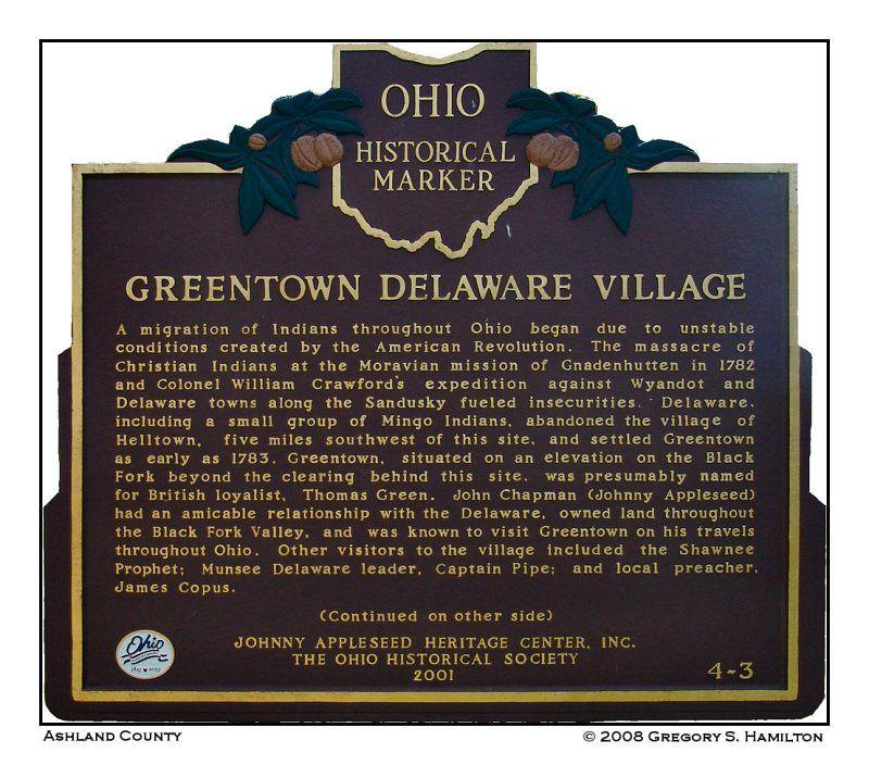 Ashland county ohio history historical marker the