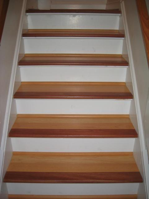 Wood Stairs Brazilianmaple And Brazilian Cherry Stair Nosing House Flooring Hardwood Stair Treads Installing Hardwood Floors