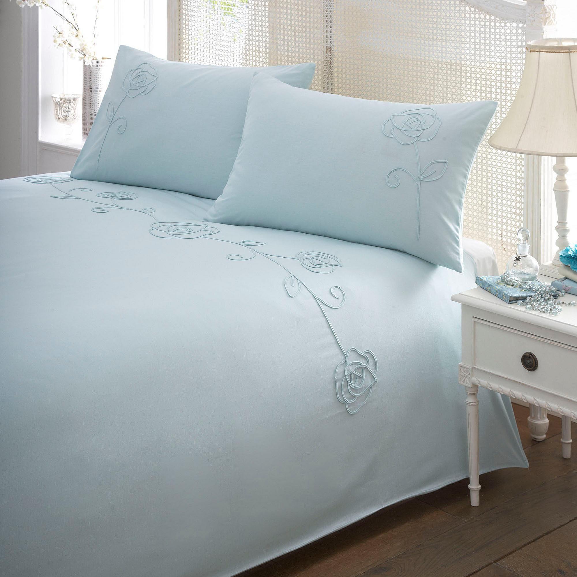 Duck egg 'Roslyn Tape' bedding set - Debenhams.com (With ...