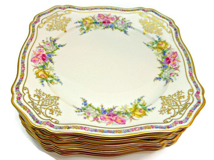 Rosenthal Ivory Bavaria Square Salad Plates - Set of 8 - Vintage China Made in Germany - Evelyn Pattern No. 2778 by EitherOrFinds on Etsy | Pinterest ...  sc 1 st  Pinterest & Rosenthal Ivory Bavaria Square Salad Plates - Set of 8 - Vintage ...