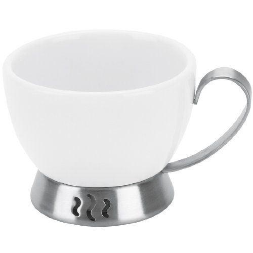 Trudeau Bianca 3ounce Espresso Cup White Porcelain And Stainless Steel Learn More By Visiting The Image Link This Is A Espresso Cups Mugs White Porcelain