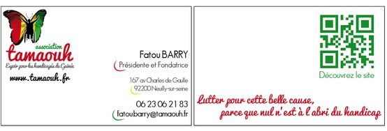 Une Creation De Carte Visite Pour Lassociation TAMAOUH