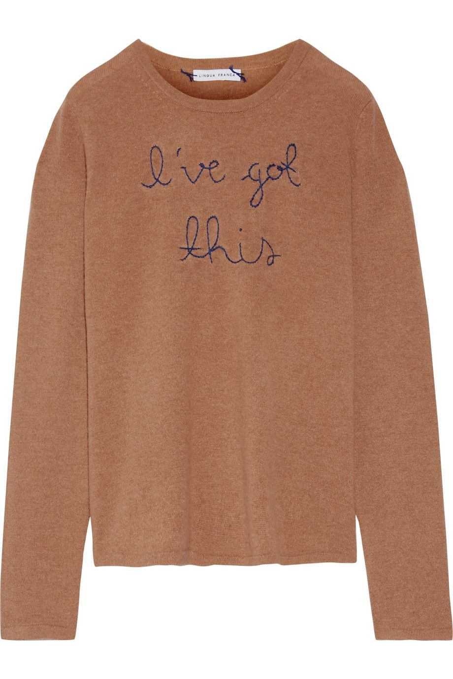 Lingua Franca | I've Got This embroidered cashmere sweater | NET-A ...