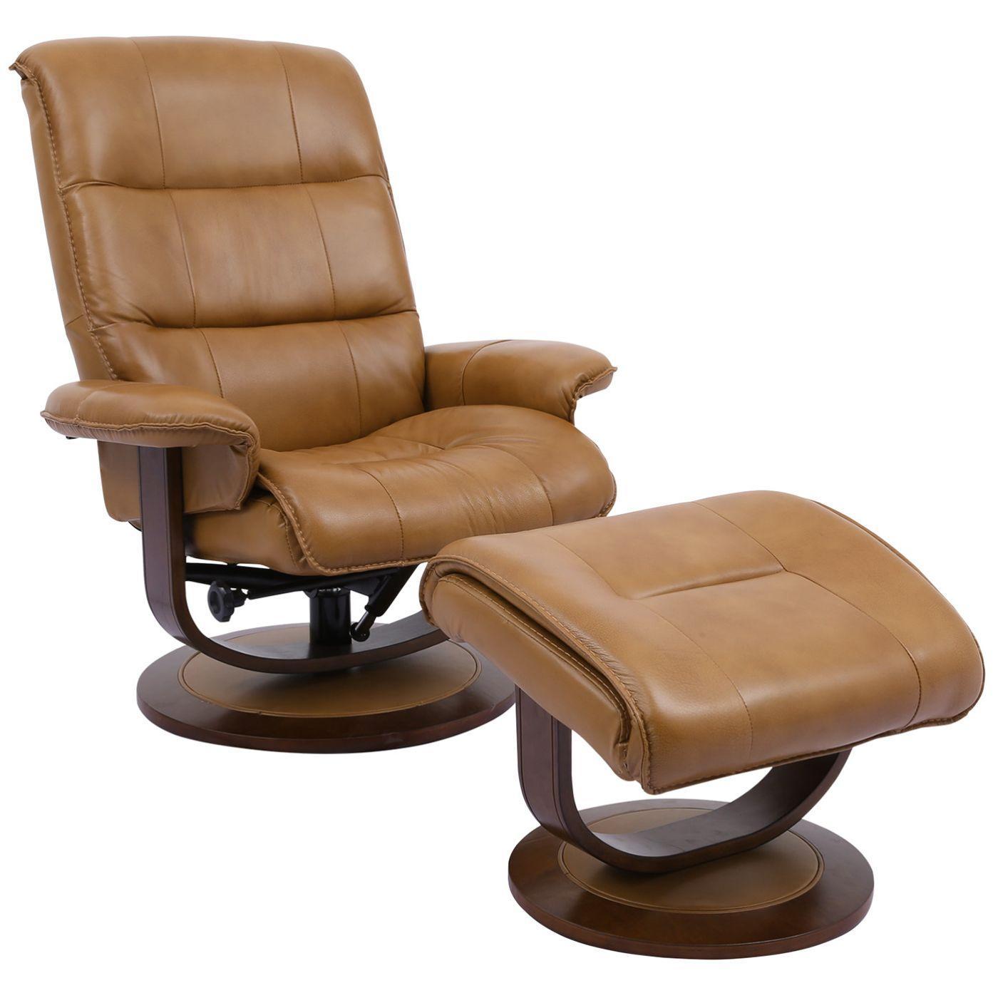 Parker House Mkni 212s But Knight Manual Reclining Swivel Chair Ottoman Caramel Brown Top Grain Leather Recliner With Ottoman Swivel Recliner Swivel Recliner Chairs Leather swivel recliner with ottoman