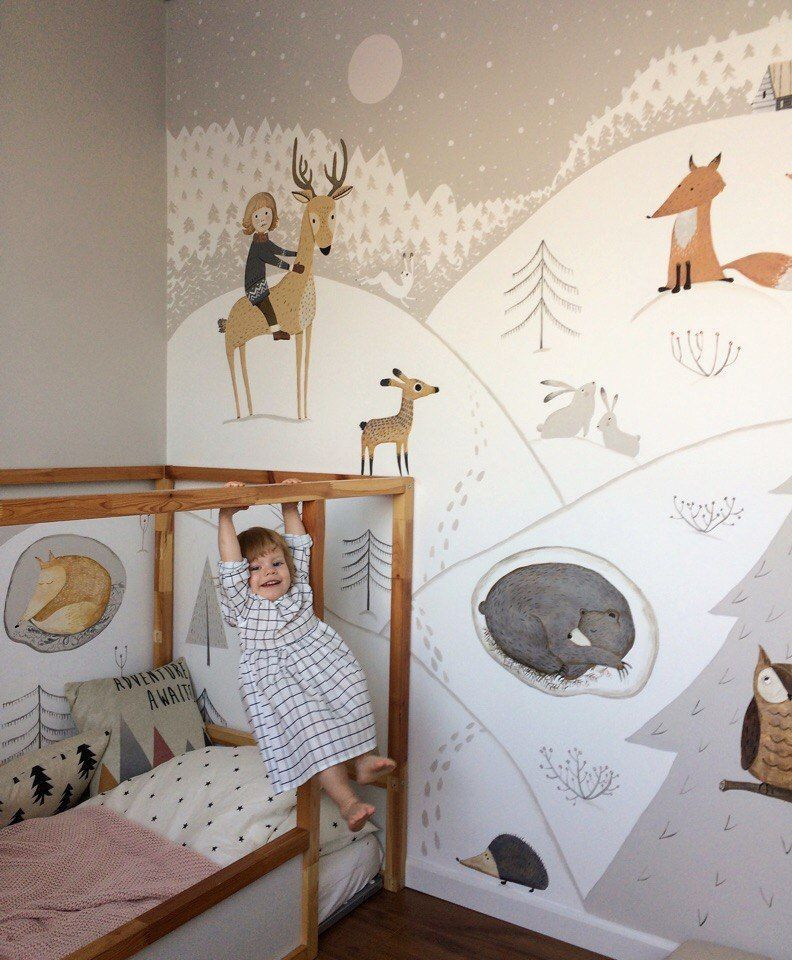 Wandmalerei im Kinderzimmer Kid room decor, Baby girl