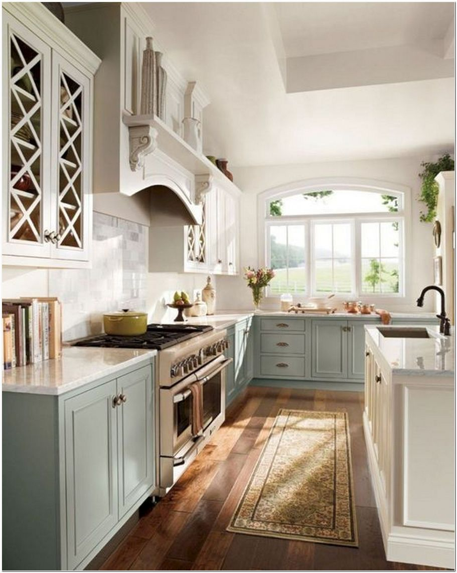 96 Beautiful Simple French Country Kitchen Ideas For Small Space 19 Kindledecor Kitch Kitchen Remodel Small Country Style Kitchen Farmhouse Kitchen Remodel