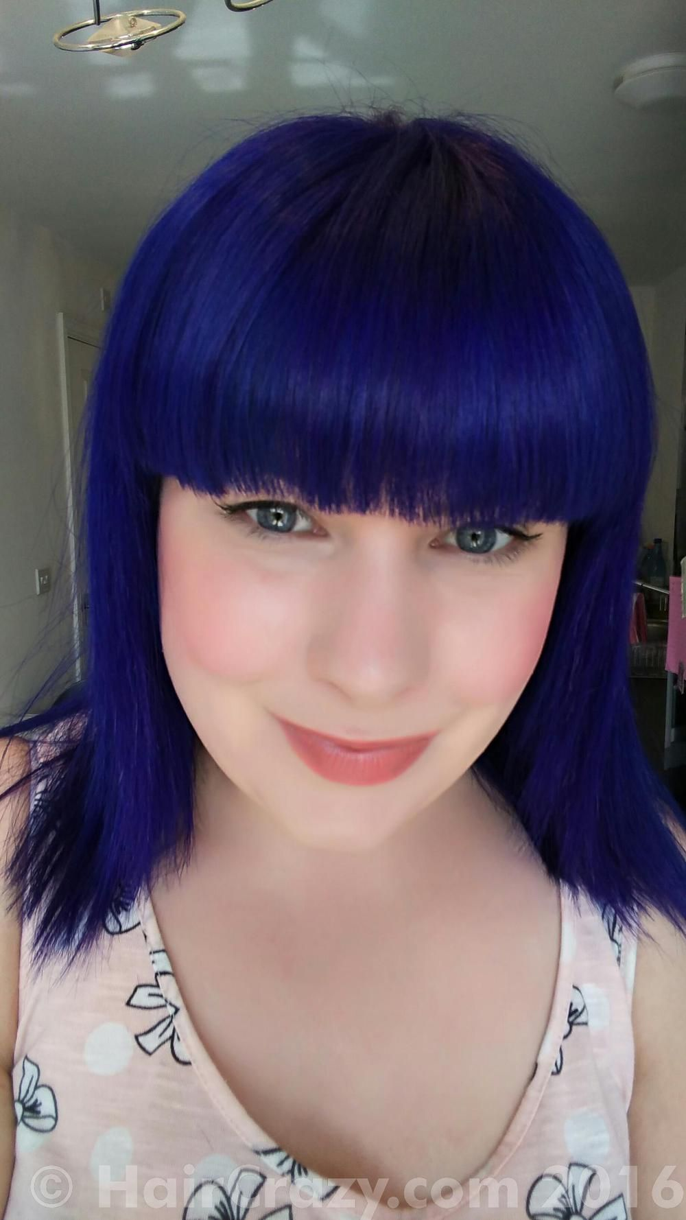 This Deep Blue Hair Colour From Special Effects Starts Out Almost