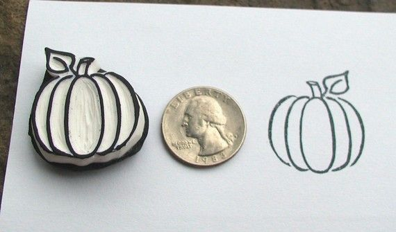 lil pumpkin stamp