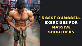 Gym Workout 5 Best Dumbbell Exercises For Massive Shoulders Best Dumbbell Exercises Dumbbell Workout Shoulder Workout
