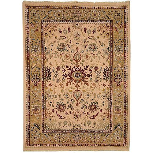 Amazon Com Safavieh Sth562a Stately Home Collection New Zealand Wool Area Rug 8 Feet By 11 Feet 2 Inch Ivory And Gold Handm Wool Area Rugs Area Rugs Rugs