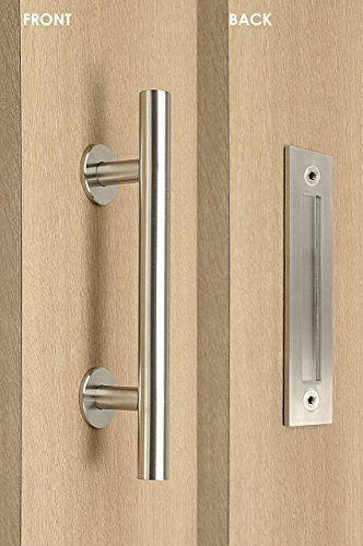 Modern And Contemporary Pull And Flush Door Handle Set Commercial Residential Grade Stainless Steel Satin Door Handles Door Handle Sets Barn Door Handles