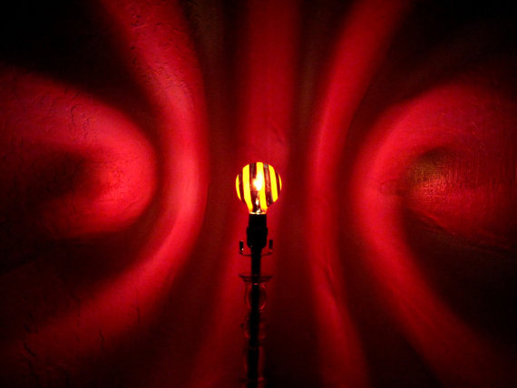 Red Black Spiral Painted Moodlight Bulb 4 Valentines Day Lights