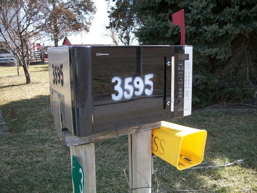 Repurposed Repurposed Microwave Mailbox Pinterest Repurposed