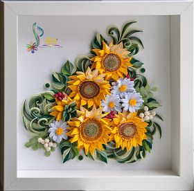 Neli quilling art frame picture cm sunflowers also rh pinterest