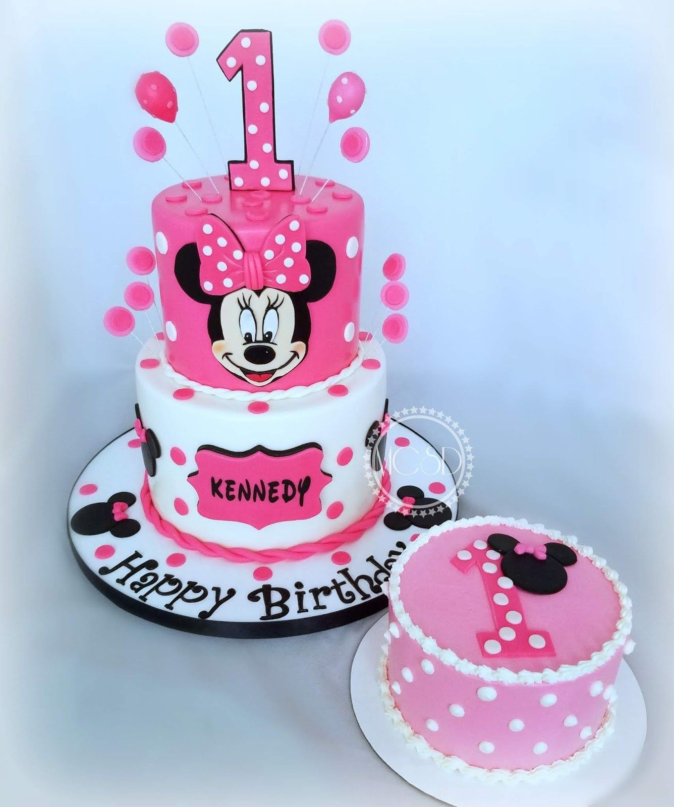 Magnificent 21 Wonderful Photo Of Minnie Mouse Cakes 1St Birthday With Personalised Birthday Cards Veneteletsinfo