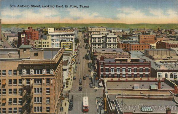 San Antonio Street Looking East Road Trip Across America El Paso Texas El Paso