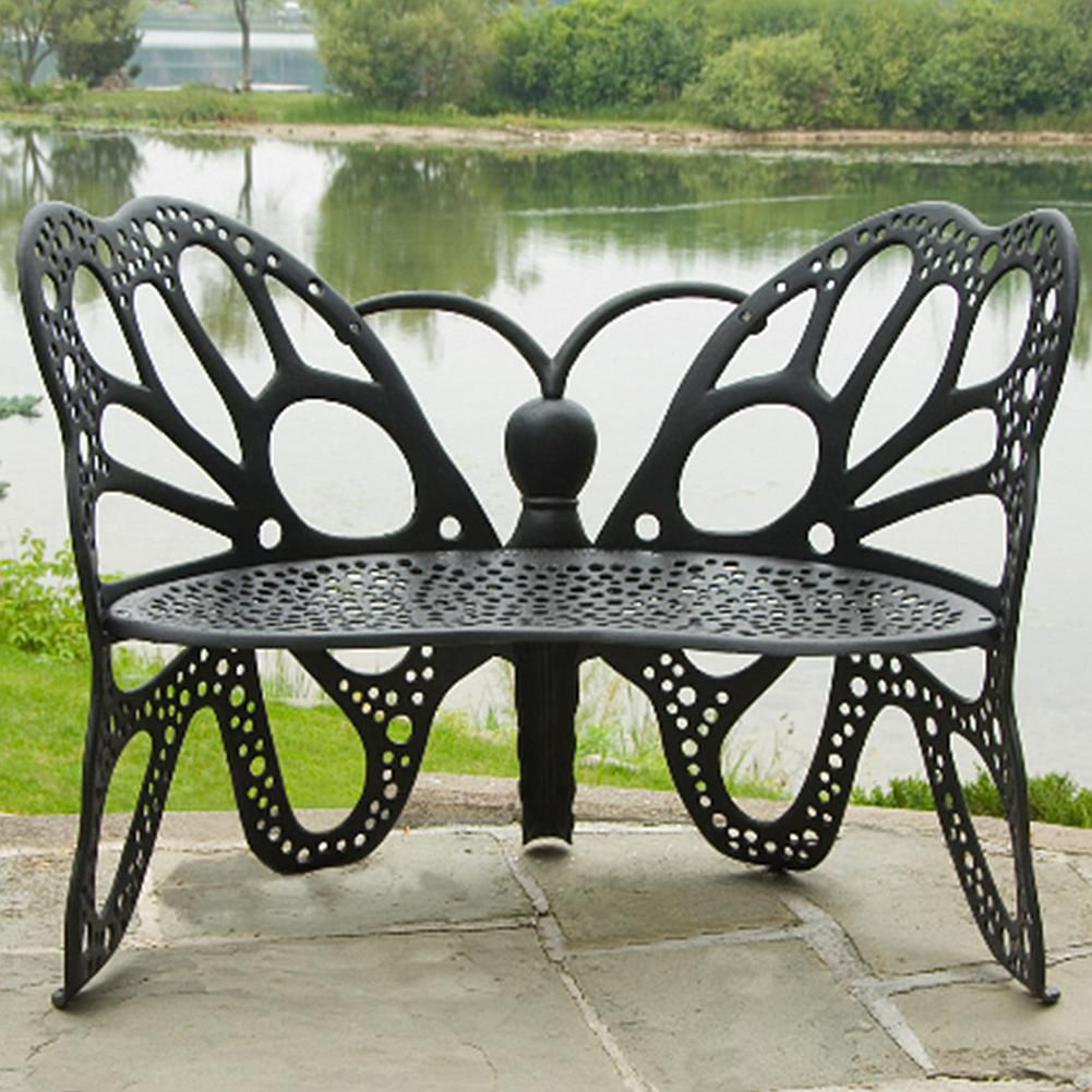 Excellent Flowerhouse Butterfly Bench 7348204 Products Outdoor Gmtry Best Dining Table And Chair Ideas Images Gmtryco