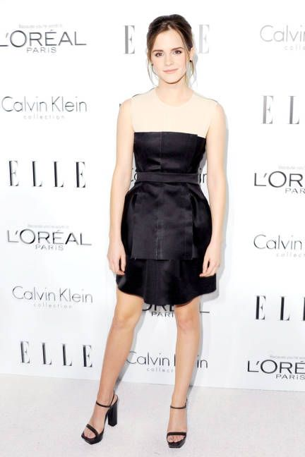 Emma Watson in Calvin Klein Collection, ELLE Women in Hollywood 2012